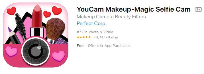 YouCam Makeup-Magic Selfie Cam & Virtual Makeovers app