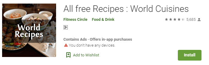 All free Recipes - World Cuisines