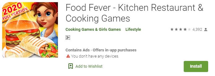 Food Fever - Kitchen Restaurant & Cooking Games