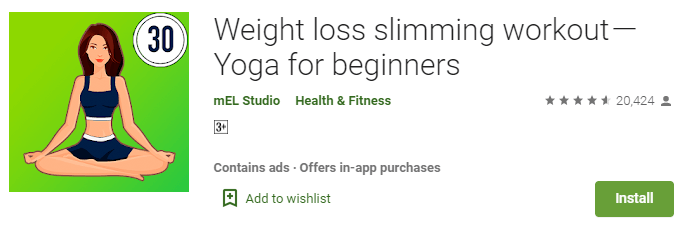 Weight loss slimming workout-Yoga for beginners